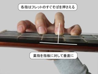 左手のフォーム